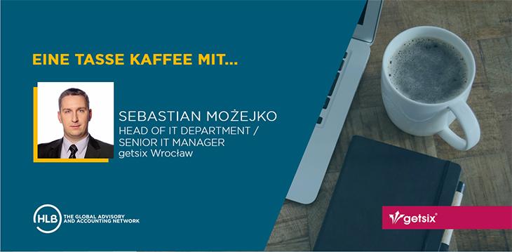 Eine Tasse Kaffee mit Sebastian Możejko