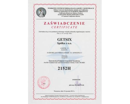 Certificate of NATO