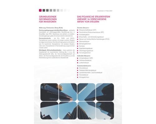 Grundlegende Informationen für Investoren und Polnische Steuersystem
