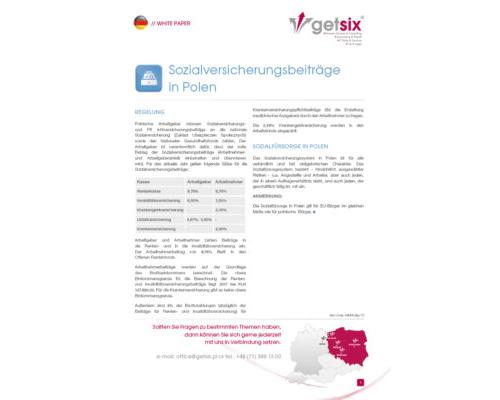 Beiträge zur Sozialversicherung in Polen