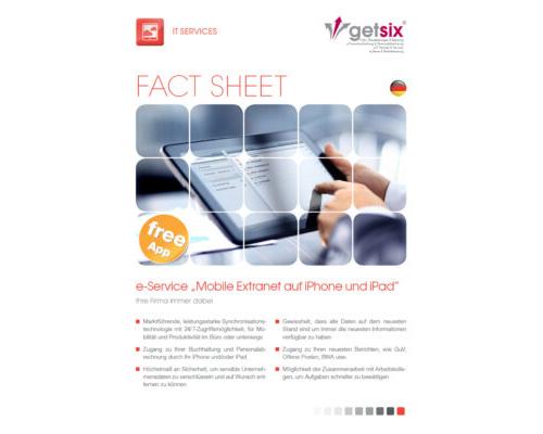 "e-Service ""Mobile Extranet auf iPhone und iPad"""